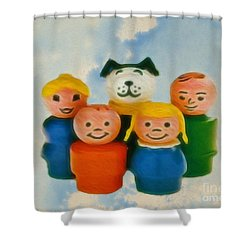 Old Friends  Shower Curtain by Cheryl Young