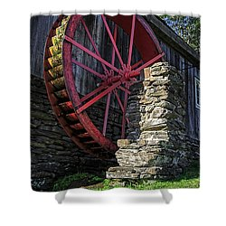 Old Grist Mill Vermont Shower Curtain by Edward Fielding