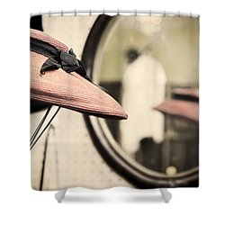Old Hat Shower Curtain by Heather Applegate