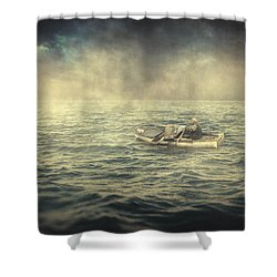 Old Man And The Sea Shower Curtain by Taylan Soyturk