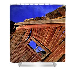 Old Red Barn Shower Curtain by Bob Christopher