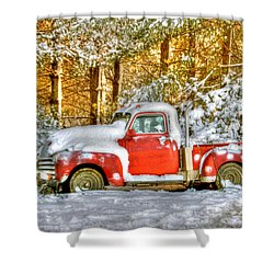 Old Red Shower Curtain by Benanne Stiens