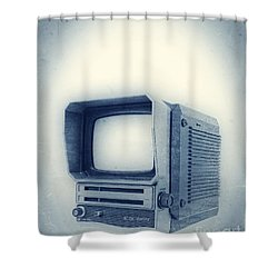 Old School Television Shower Curtain by Edward Fielding