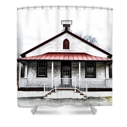 Old Schoolhouse Chester Springs Shower Curtain by Bill Cannon