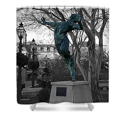Old Town Alexandria - Brio 1 Shower Curtain by Richard Reeve