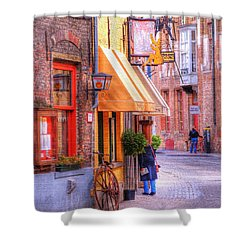 Old Town Bruges Belgium Shower Curtain by Juli Scalzi
