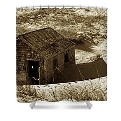 Old Tyme Cape Cod Shower Curtain by Skip Willits