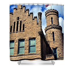 Old Vanderburgh County Jail Shower Curtain by Deena Stoddard
