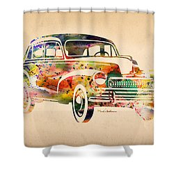 Old Volkswagen Shower Curtain by Mark Ashkenazi