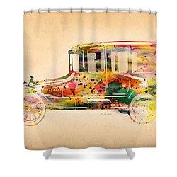 Old Volkswagen3 Shower Curtain by Mark Ashkenazi