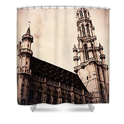 Old World Grand Place Shower Curtain by Carol Groenen