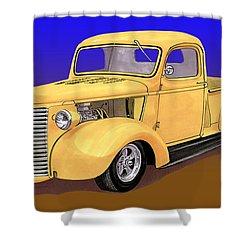 Old Yeller Pickem Up Truck Shower Curtain by Jack Pumphrey