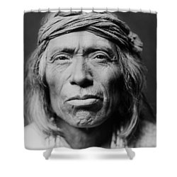 Old Zuni Man Circa 1903 Shower Curtain by Aged Pixel