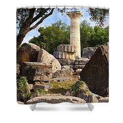 Olympus Ruins Shower Curtain by Brian Jannsen