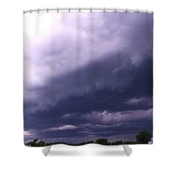 Ominous Clouds Shower Curtain by PainterArtist FIN
