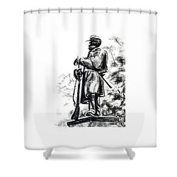 On Duty In Brigadoon  No Ch101 Shower Curtain by Kip DeVore