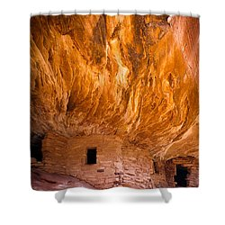On Fire Shower Curtain by Inge Johnsson