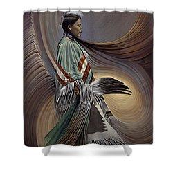 On Sacred Ground Series I Shower Curtain by Ricardo Chavez-Mendez