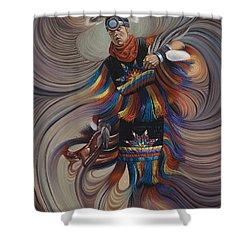 On Sacred Ground Series II Shower Curtain by Ricardo Chavez-Mendez