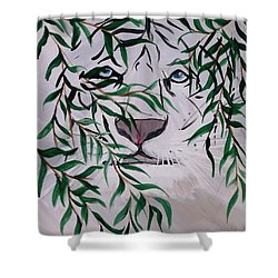 On The Prowl Shower Curtain by Mark Moore