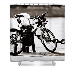 On The Quay - Featured 3 Shower Curtain by Alexander Senin