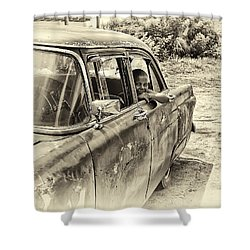On The Road Shower Curtain by Phil Callan Photography