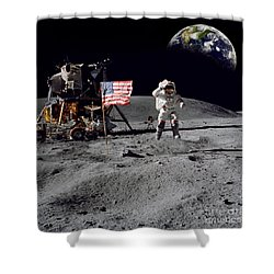 On Top Of The World Shower Curtain by Jon Neidert