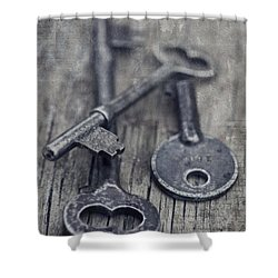 Once Upon A Time There Was A Lock Shower Curtain by Priska Wettstein