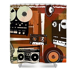 Once Upon Audio Shower Curtain by Bedros Awak