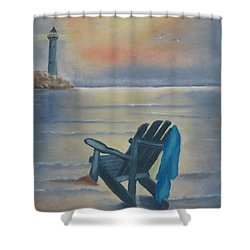One Is A Lonely Number Shower Curtain by Kay Novy