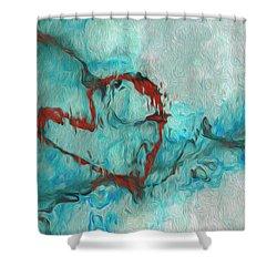 One Shower Curtain by Jack Zulli