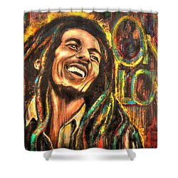 One Love Shower Curtain by Robyn Chance