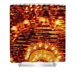 One Night In Paris - Abstract Art Shower Curtain by Carol Groenen