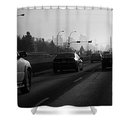 One Smoggy Morning Shower Curtain by Trever Miller