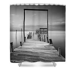 One Way Shower Curtain by Jorge Maia