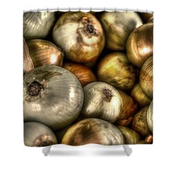 Onions Shower Curtain by David Morefield