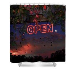 Open Shower Curtain by Ron Jones