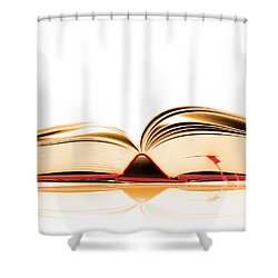 Opened Book Shower Curtain by Michal Bednarek