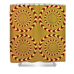Optical Ilusions Summer Spin Shower Curtain by Sumit Mehndiratta