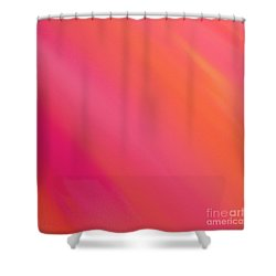 Orange And Raspberry Sorbet Abstract 3 Shower Curtain by Andee Design