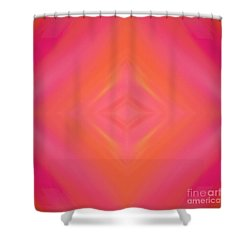 Orange And Raspberry Sorbet Abstract 4 Shower Curtain by Andee Design