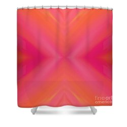 Orange And Raspberry Sorbet Abstract 7 Shower Curtain by Andee Design