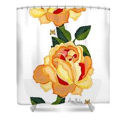 Orange Glow Shower Curtain by Anne Norskog