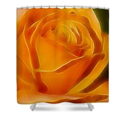 Orange Rose 6291-fractal Shower Curtain by Gary Gingrich Galleries