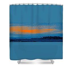 Orange Sunset Shower Curtain by Ben and Raisa Gertsberg