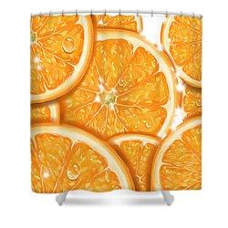 Orange Shower Curtain by Veronica Minozzi