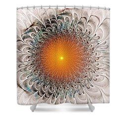 Orange Zone Shower Curtain by Anastasiya Malakhova