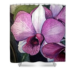 Orchid Shower Curtain by Irina Sztukowski