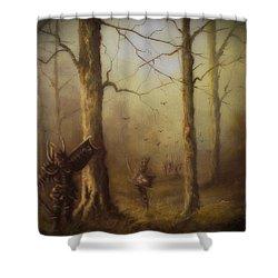 Orcs Of Isnegard Shower Curtain by Joe  Gilronan