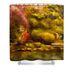 Orient - The Japanese Garden Shower Curtain by Mike Savad
